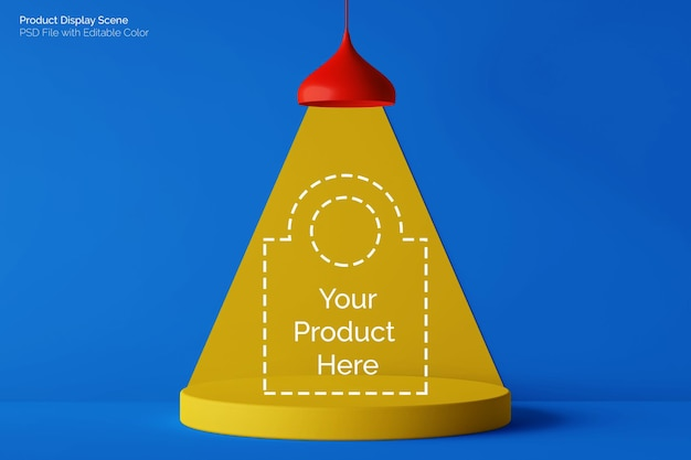 Lámpara colgante y podio redonda simple con bloques de colores divertidos