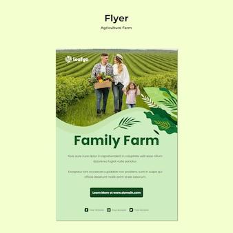 Landbouw boerderij concept flyer sjabloon