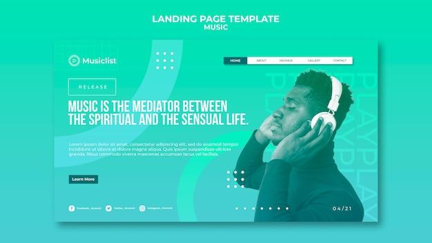 Landing page para amantes de la música