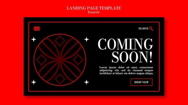 Landing page para el misticismo esotérico