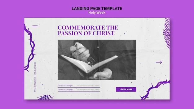 Landing page de semana santa con foto