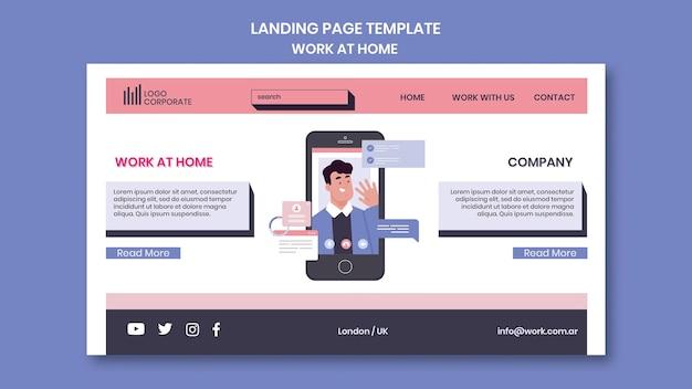Landing page para trabajar desde casa