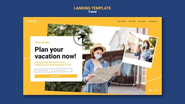 Landing page de viajes con foto