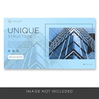 Landingspagina banner residentiële architectuur sjabloon premium