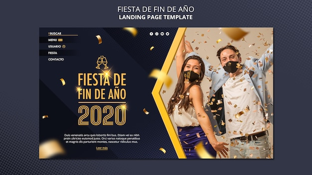 Landingspagina fiesta de fin de ano 2020