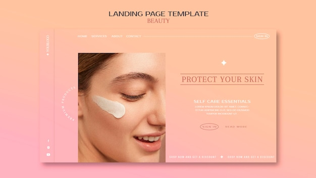 Landingspagina huidverzorgingsproducten