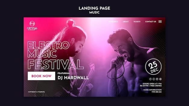 Landingspagina muziekfestival