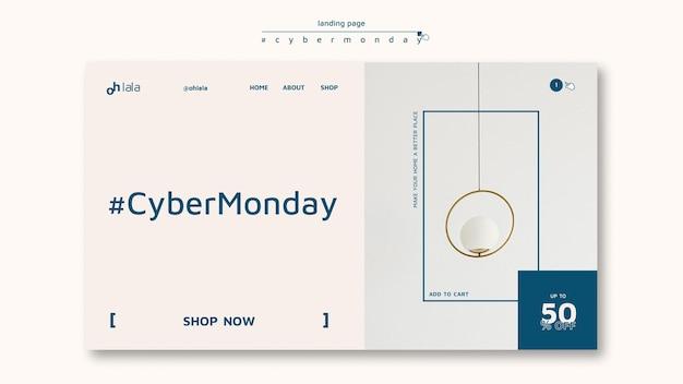 Landingspagina sjabloon voor cyber maandag winkelen