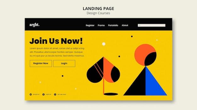 Landingspagina-sjabloon voor grafische ontwerpklassen