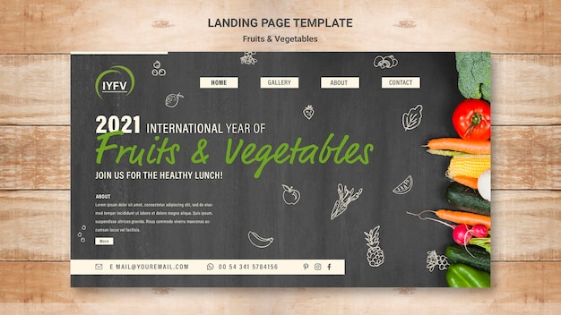 Landingspagina sjabloon voor groenten en fruit