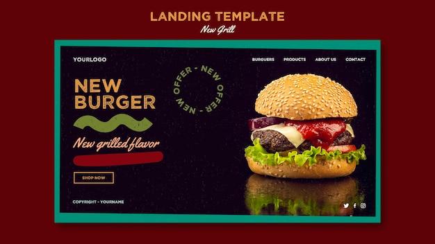 Landingspagina sjabloon voor hamburgerrestaurant