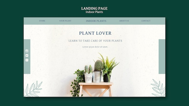 Landingspagina sjabloon voor kamerplanten