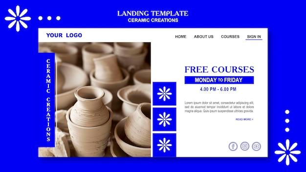 Landingspagina sjabloon voor keramische creaties