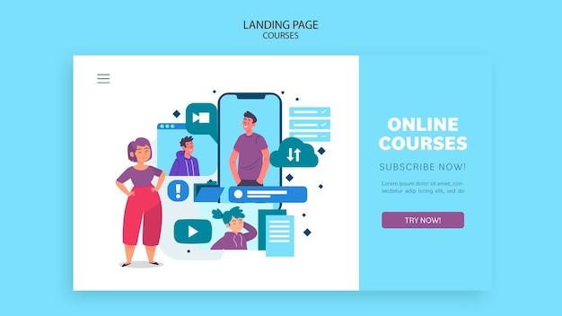 Landingspagina sjabloon voor online cursussen