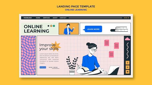 Landingspagina-sjabloon voor online leren