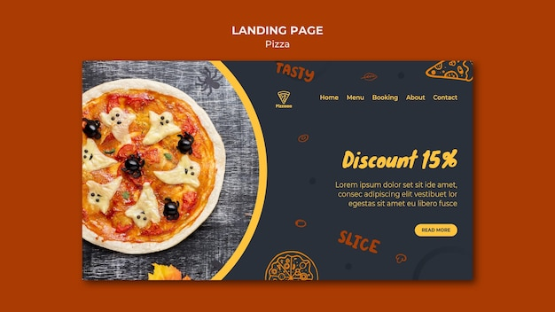 Landingspagina sjabloon voor pizzarestaurant
