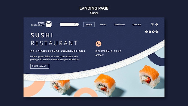Landingspagina sjabloon voor sushi-restaurant