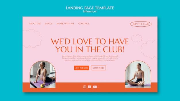 Landingspagina sportclub