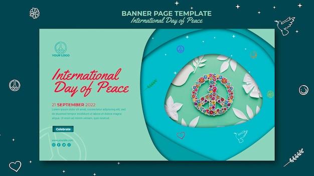 Landingspagina van de internationale dag van de vrede