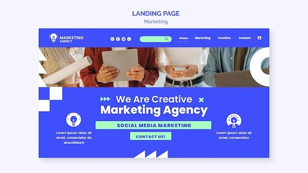 Landingspagina van marketingbureau