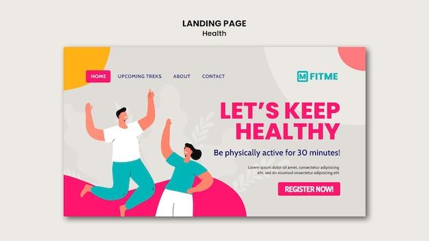 Landingspagina voor gezondheidszorg