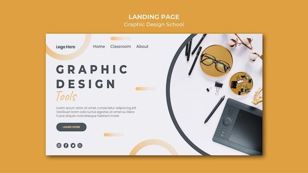 Landingspagina voor grafisch ontwerp
