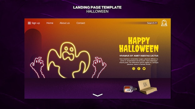 Landingspagina voor halloween-evenementensjabloon