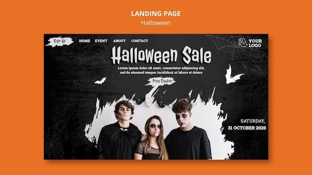 Landingspagina voor halloween-feest