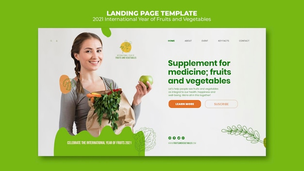 Landingspagina voor het jaar van groenten en fruit