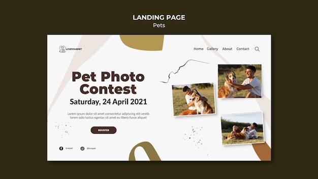 Landingspagina voor huisdieren en eigenaren