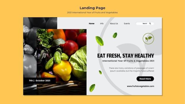Landingspagina voor internationaal jaar van groenten en fruit