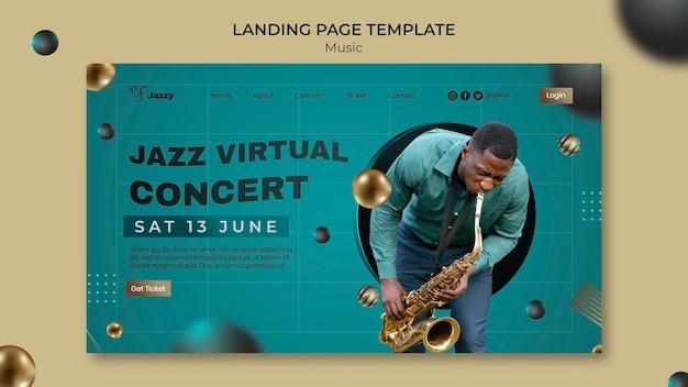 Landingspagina voor jazzmuziekfestival