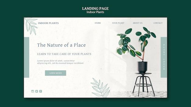 Landingspagina voor kamerplanten