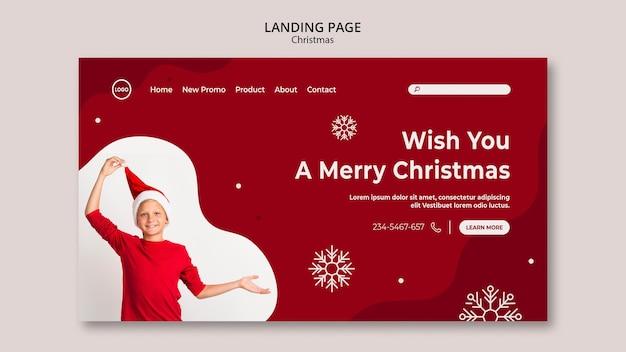 Landingspagina voor kerstverkoop