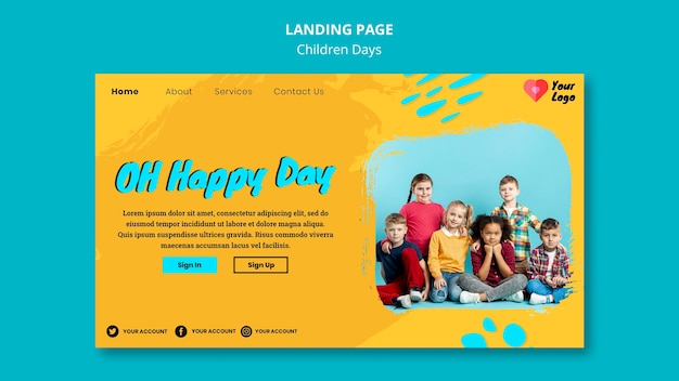 Landingspagina voor kinderdag