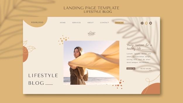 Landingspagina voor lifestyle-blog