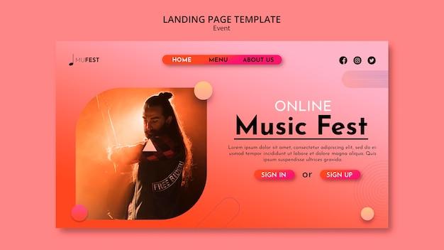 Landingspagina voor muziekevenementen