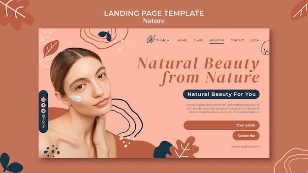 Landingspagina voor natuurlijke huidverzorgingsproducten
