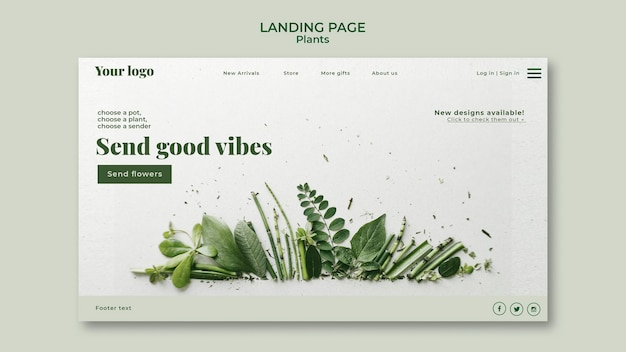 Landingspagina voor planten