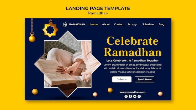 Landingspagina voor ramadan-viering