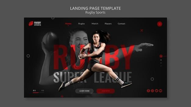 Landingspagina voor rugbysporten