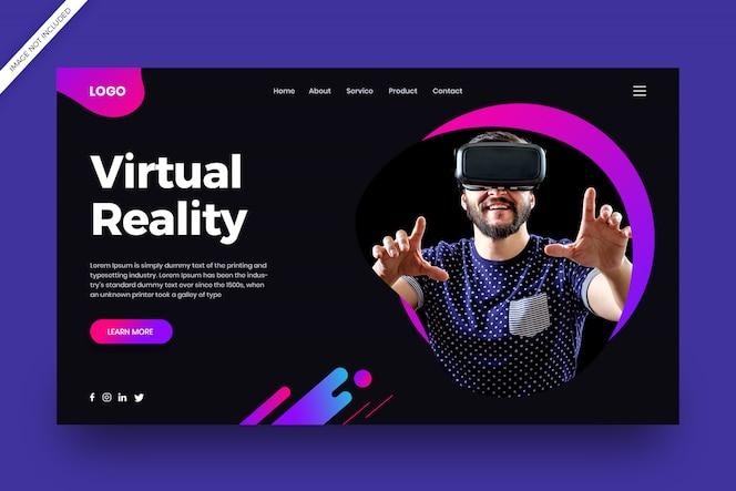Landingspagina voor virtual reality