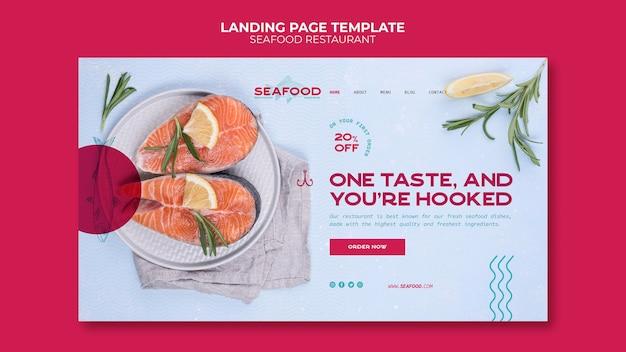 Landingspagina voor visrestaurant