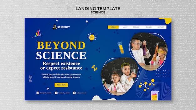 Landingspagina voor wetenschappelijke lessen