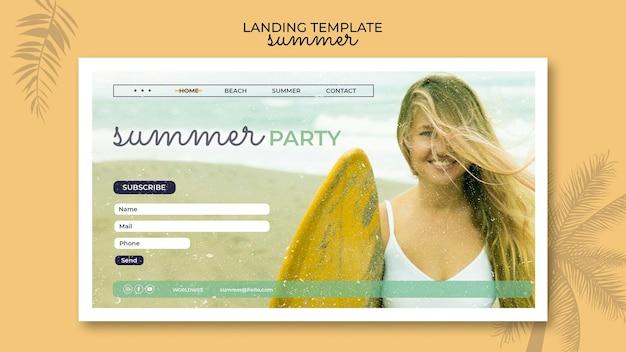 Landingspagina voor zomerfeest