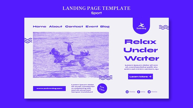 Landingspagina zwemles