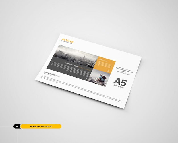 Landscape flyer mockup
