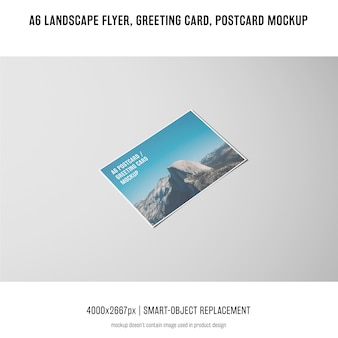 Landscape flyer, postcard, greeting card mockup