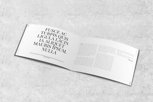 Landscape magazine o brochure mockup