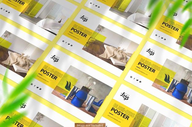Landscape posters mockup voor 3 verschillende sjablonen
